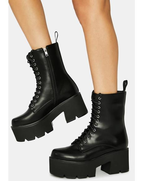 Punk Poppin Lace Up Boots