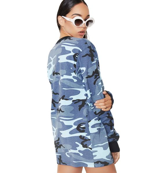 Sky Urban Camo Long Sleeve Tee