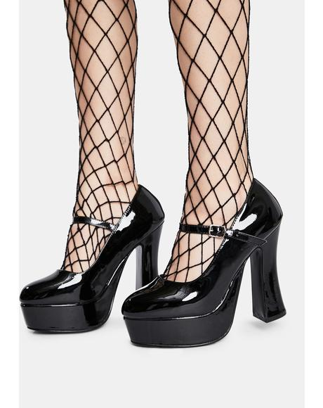 Dolly Patent Platform Heels