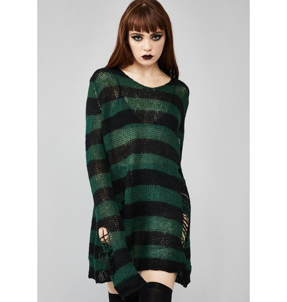 Widow Eternal Nightmare Distressed Sweater