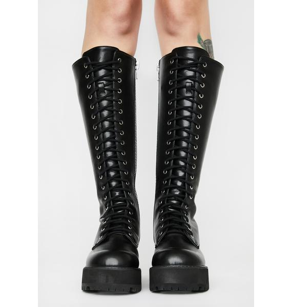 Current Mood Viral Violation Knee High Boots