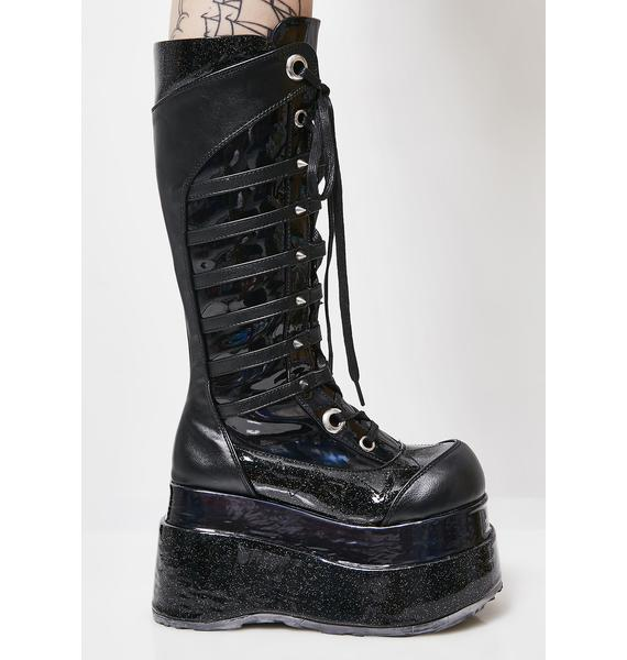 Demonia Step Right In Platform Boots