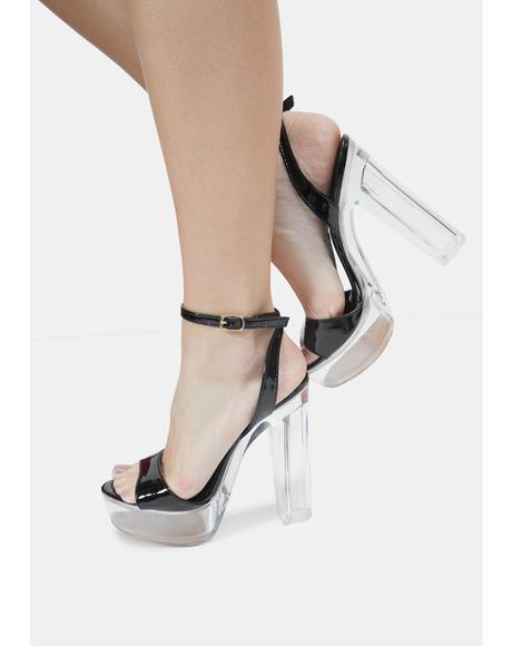 Black Turino Platform Heels