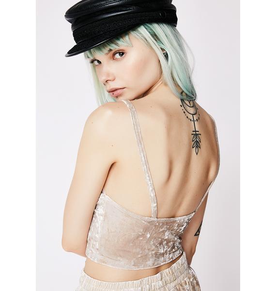 Ice Maiden Velvet Crop Top