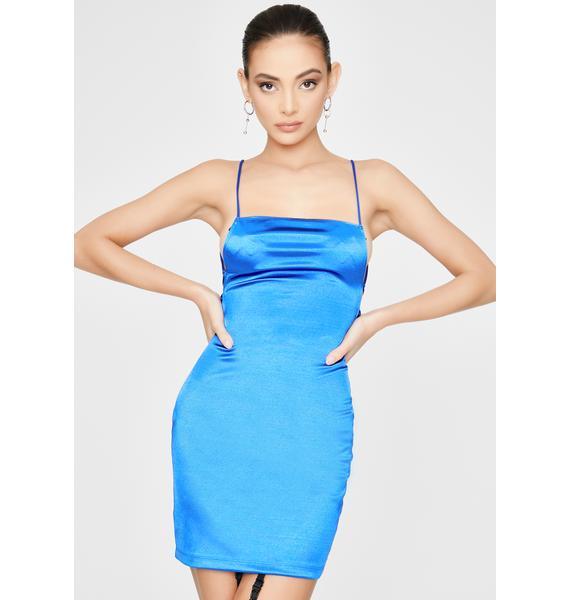 Motel Electric Blue Kozue Mini Dress