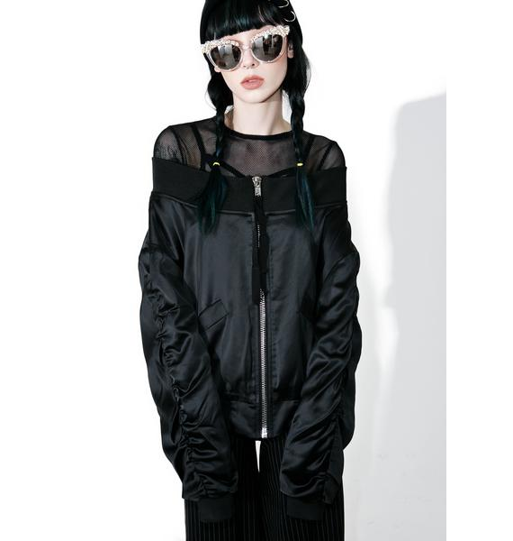 Dark Hold Me Off-Shoulder Jacket