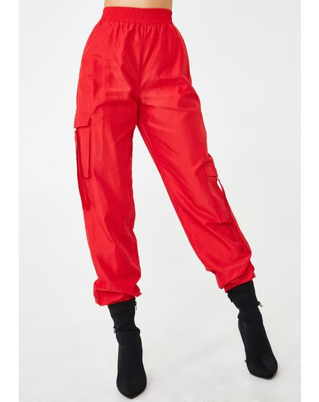Red Floss Cargo Pants