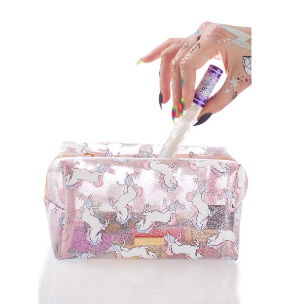 Skinnydip Glitter Unicorn Makeup Bag