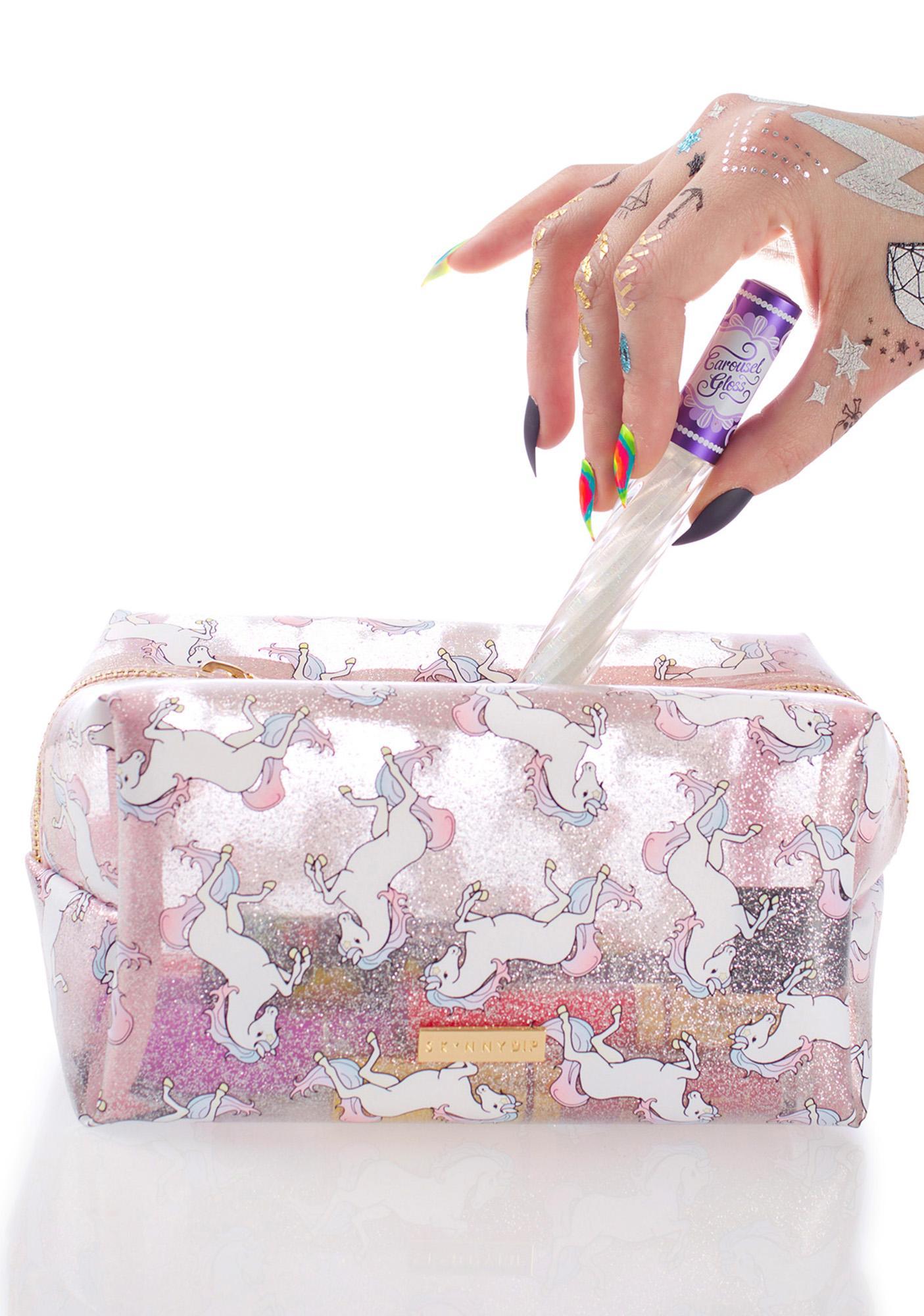 Skinnydip Glitter Unicorn Makeup Bag