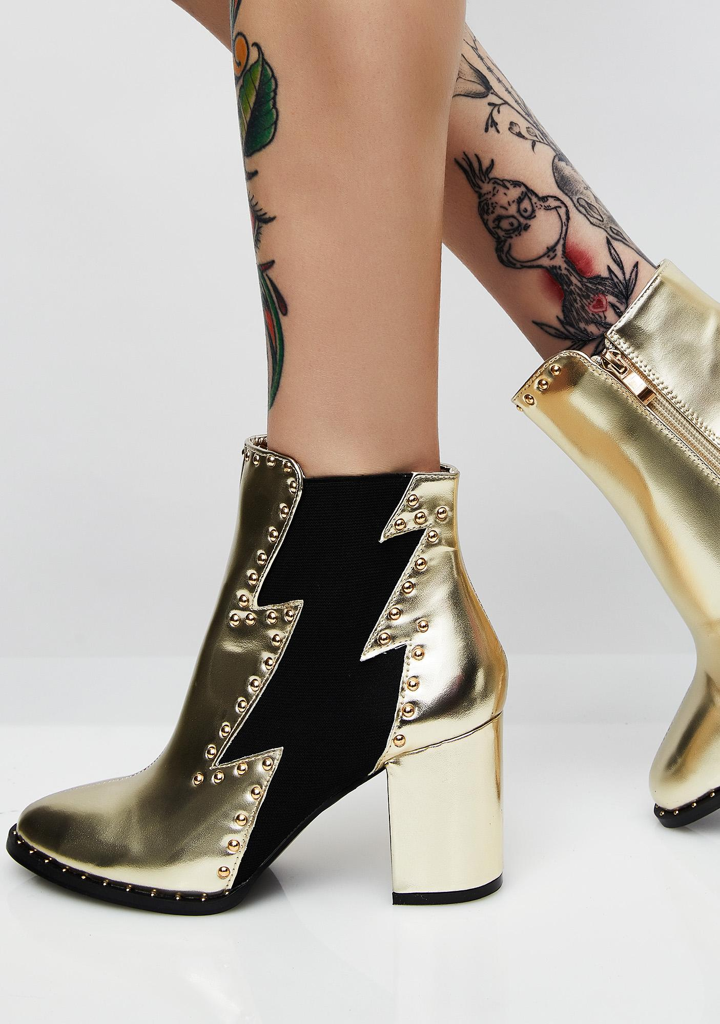 Lightning Strikes Ankle Boots