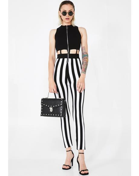 Beetlejuiced BB Striped Jumpsuit