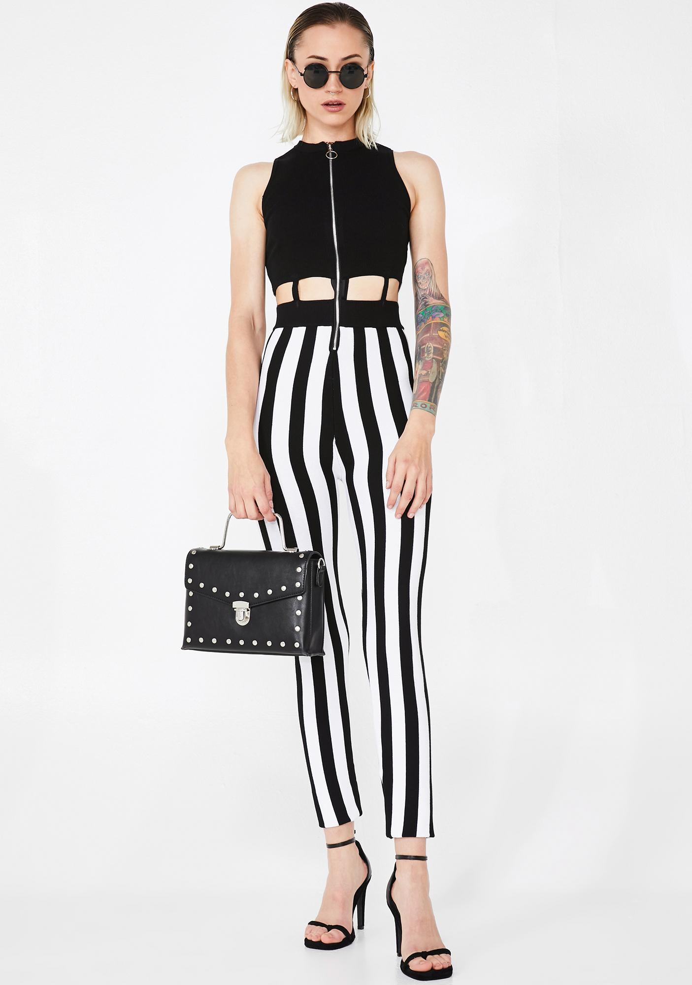 Beetlejuiced BB Striped Jumpsuit