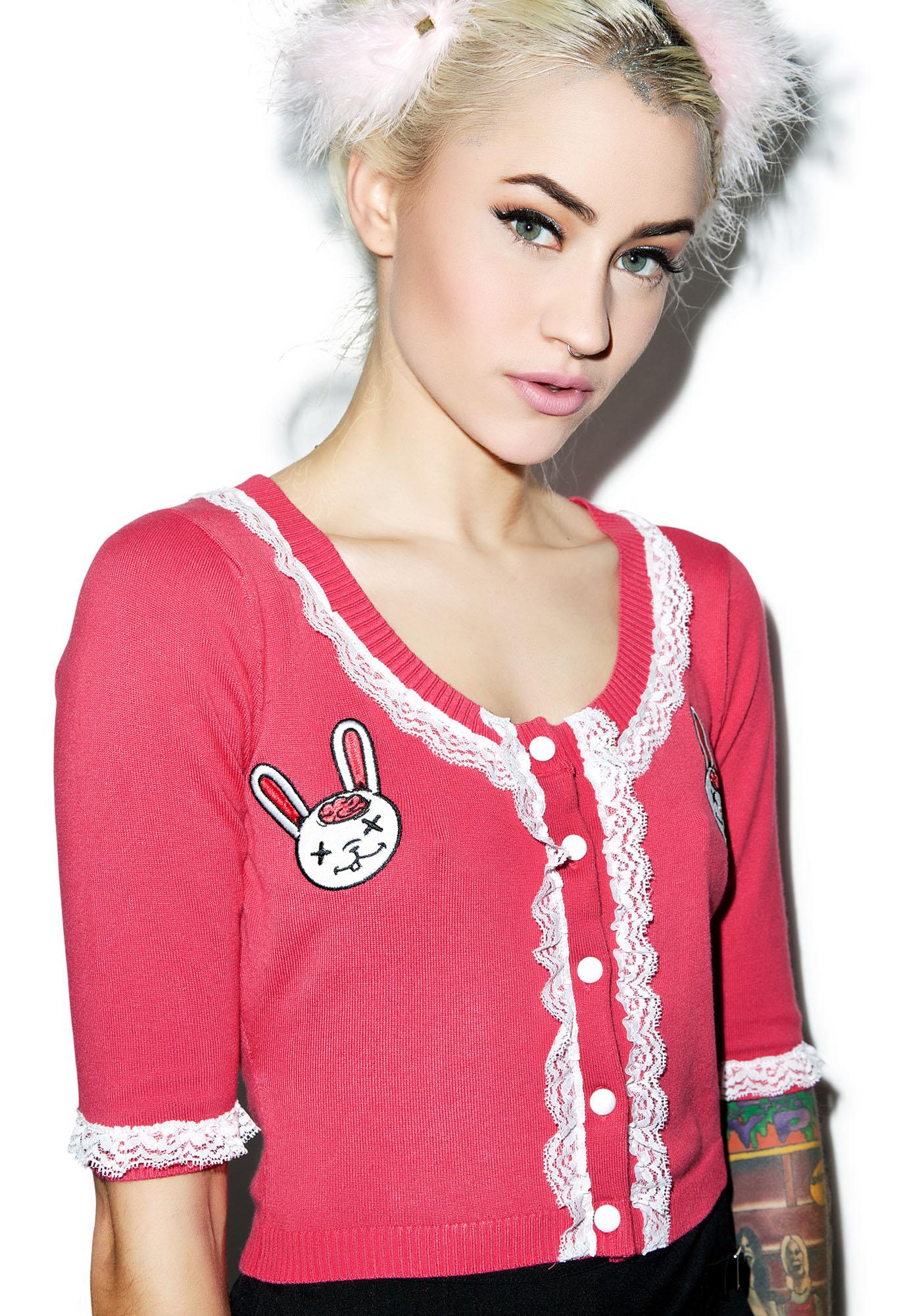 Sourpuss Clothing Zombie Bunnies Bella Cardigan