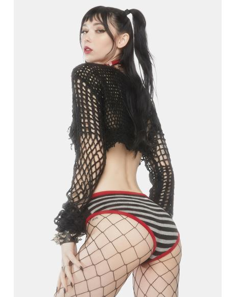 Red Anarchy Knit Panty
