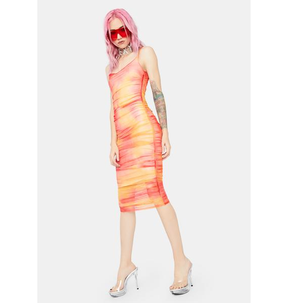 Sherbet Happy Together Midi Dress