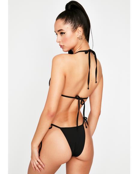 Black Tyra Bikini Bottoms
