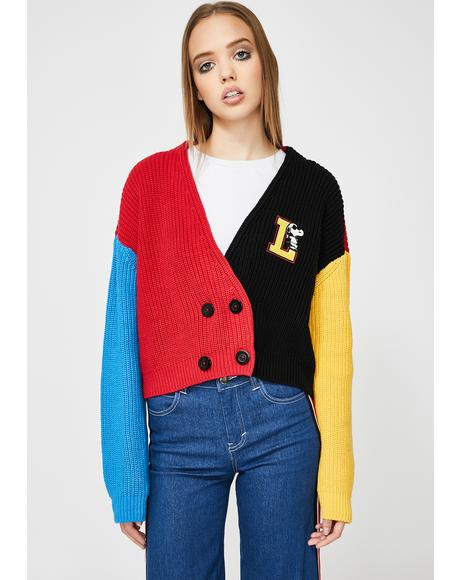 x Peanuts Double Breasted Cardigan