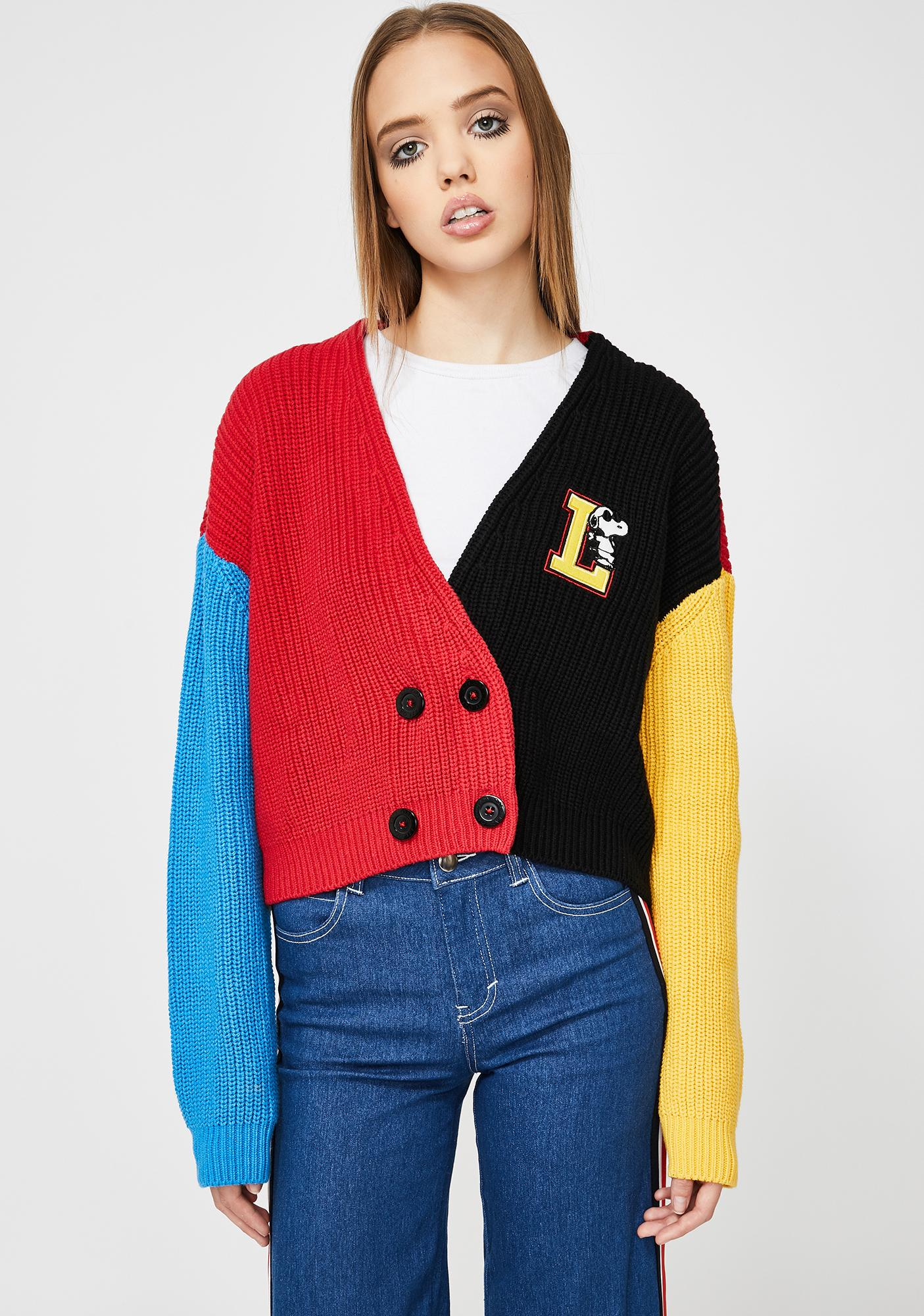Lazy Oaf x Peanuts Double Breasted Cardigan