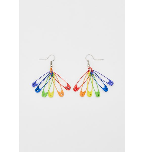 Stay Together Safety Pin Earrings