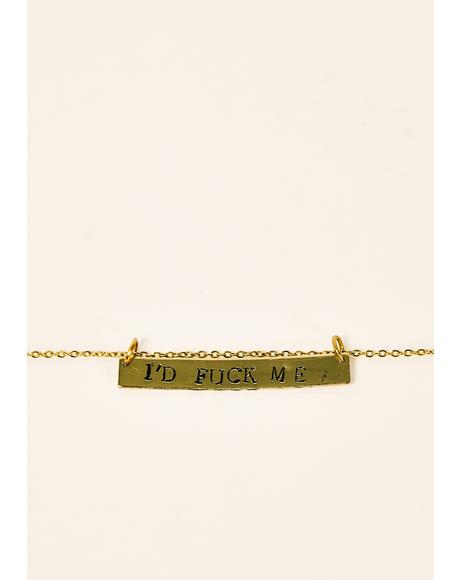 I'd F Me Stamped Necklace