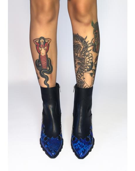 Slithering Away Ankle Boots