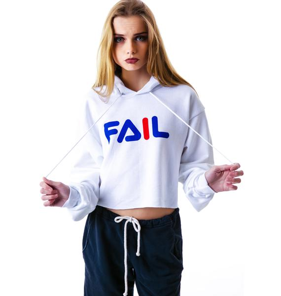 Petals and Peacocks Fail Crop Hoodie