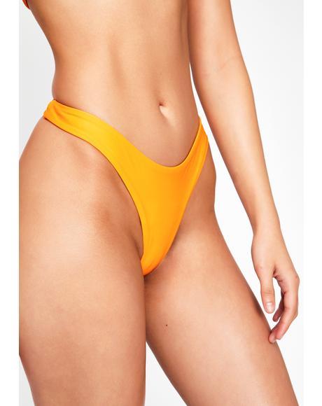 Orange Katiya Bikini Bottoms