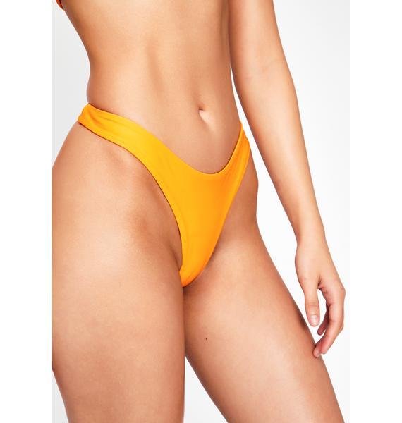 I AM GIA Orange Katiya Bikini Bottoms