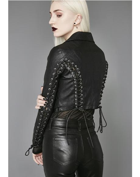 Love In Vein Moto Jacket