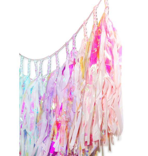 Studio Mucci Mermaid Rainbow Tassel Banner