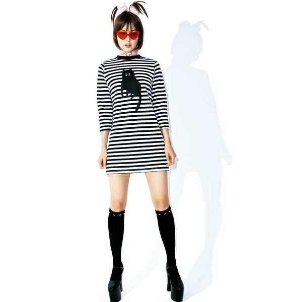 Lazy Oaf Stripey Cat Dress