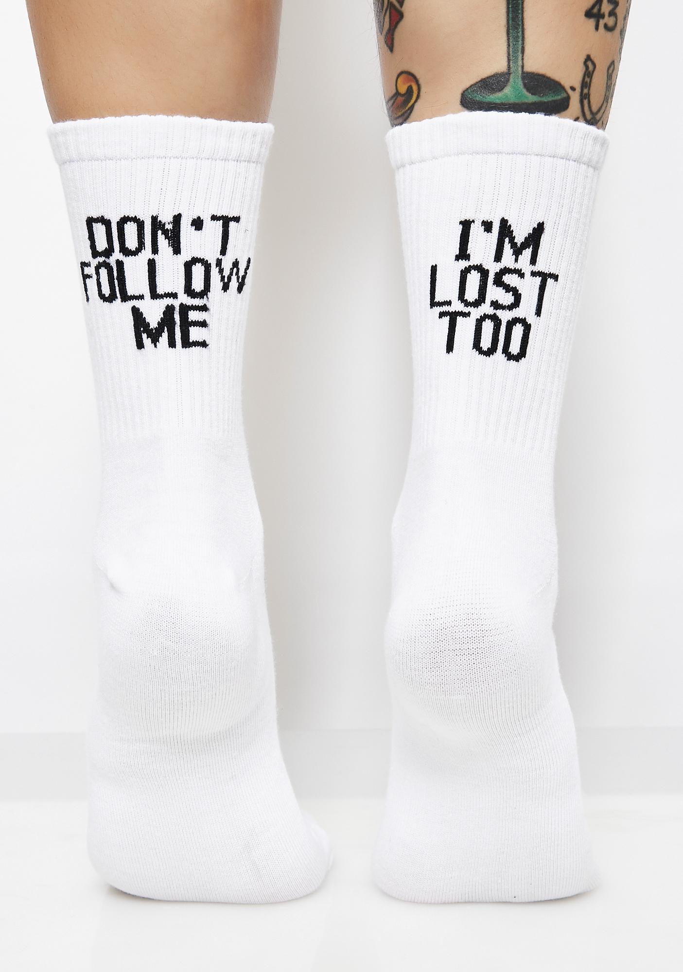 Don't Follow Me Socks