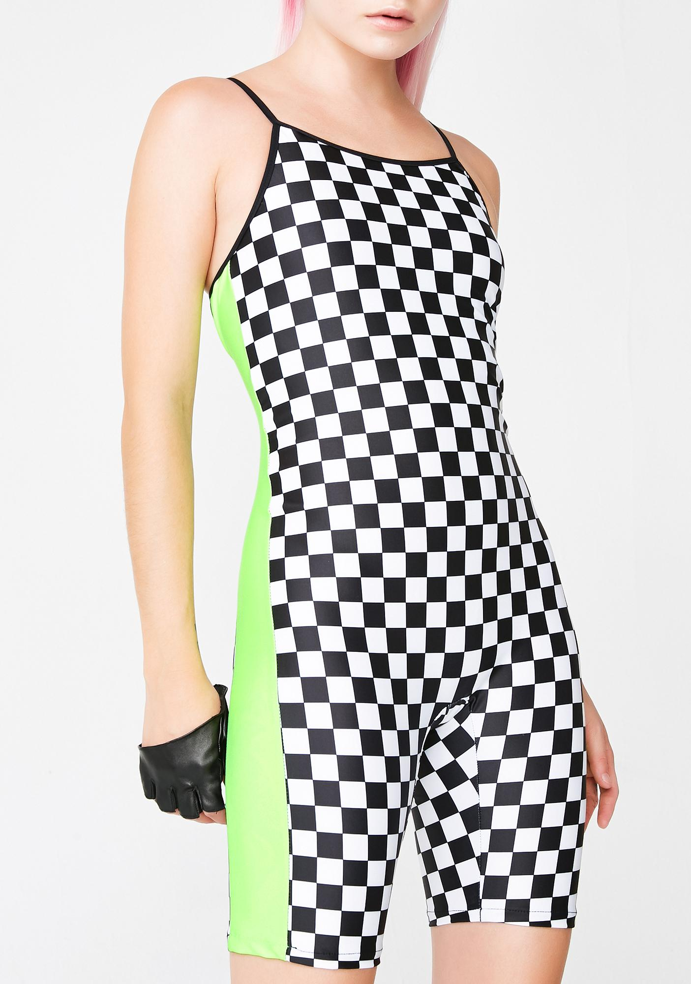 GoGuy Checkerboard Green Unitard