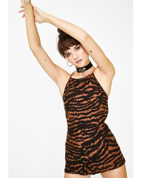 Brown Leopard Ophelia Romper