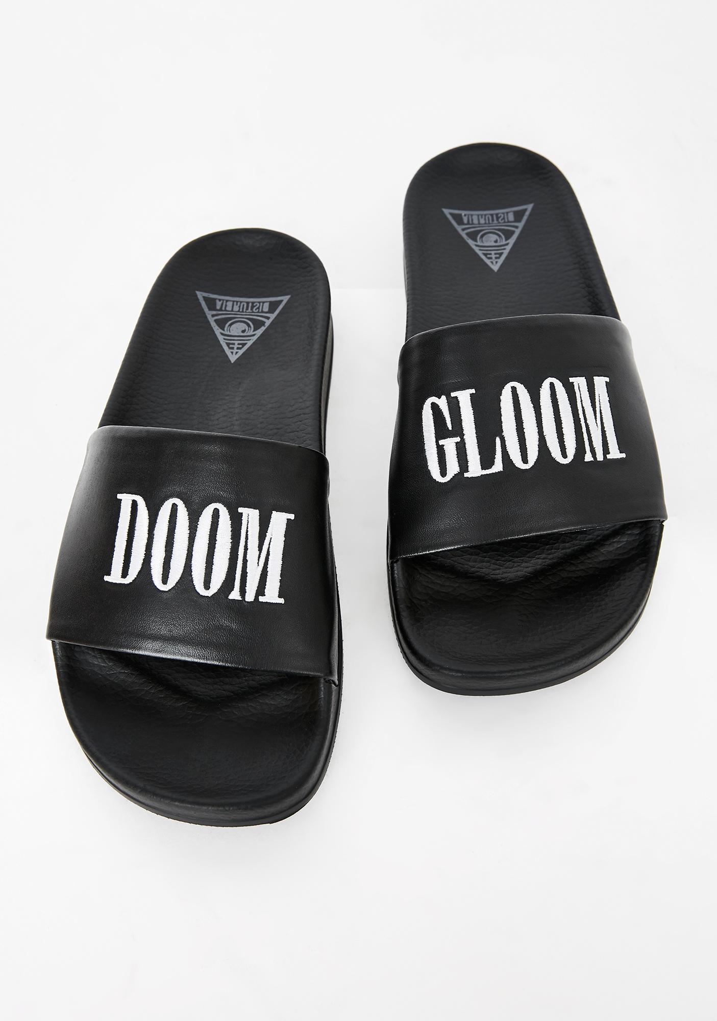 Disturbia Doom N' Gloom Slide Sandals