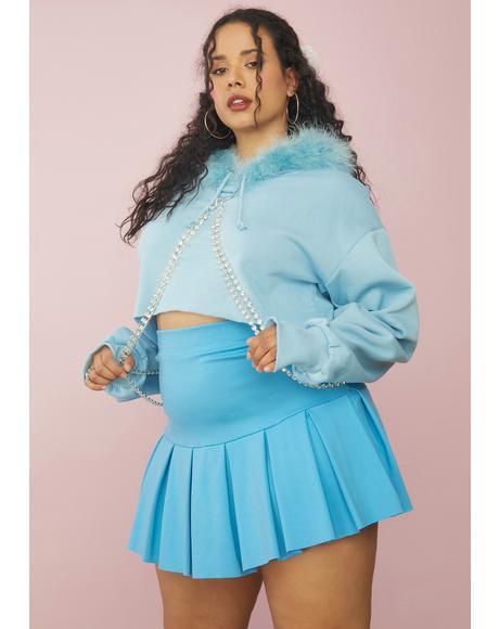 Aqua She's Blinged N' Babied Rhinestone Hoodie