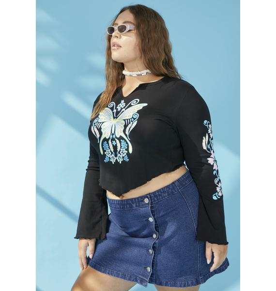 dELiA*s by Dolls Kill Her Siren Song Graphic Tee