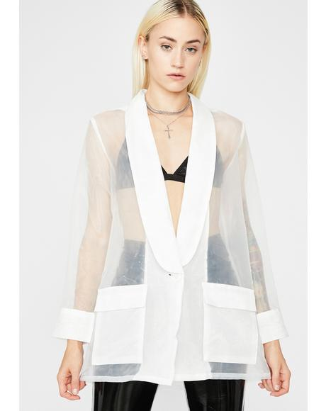 Business Class Sheer Blazer