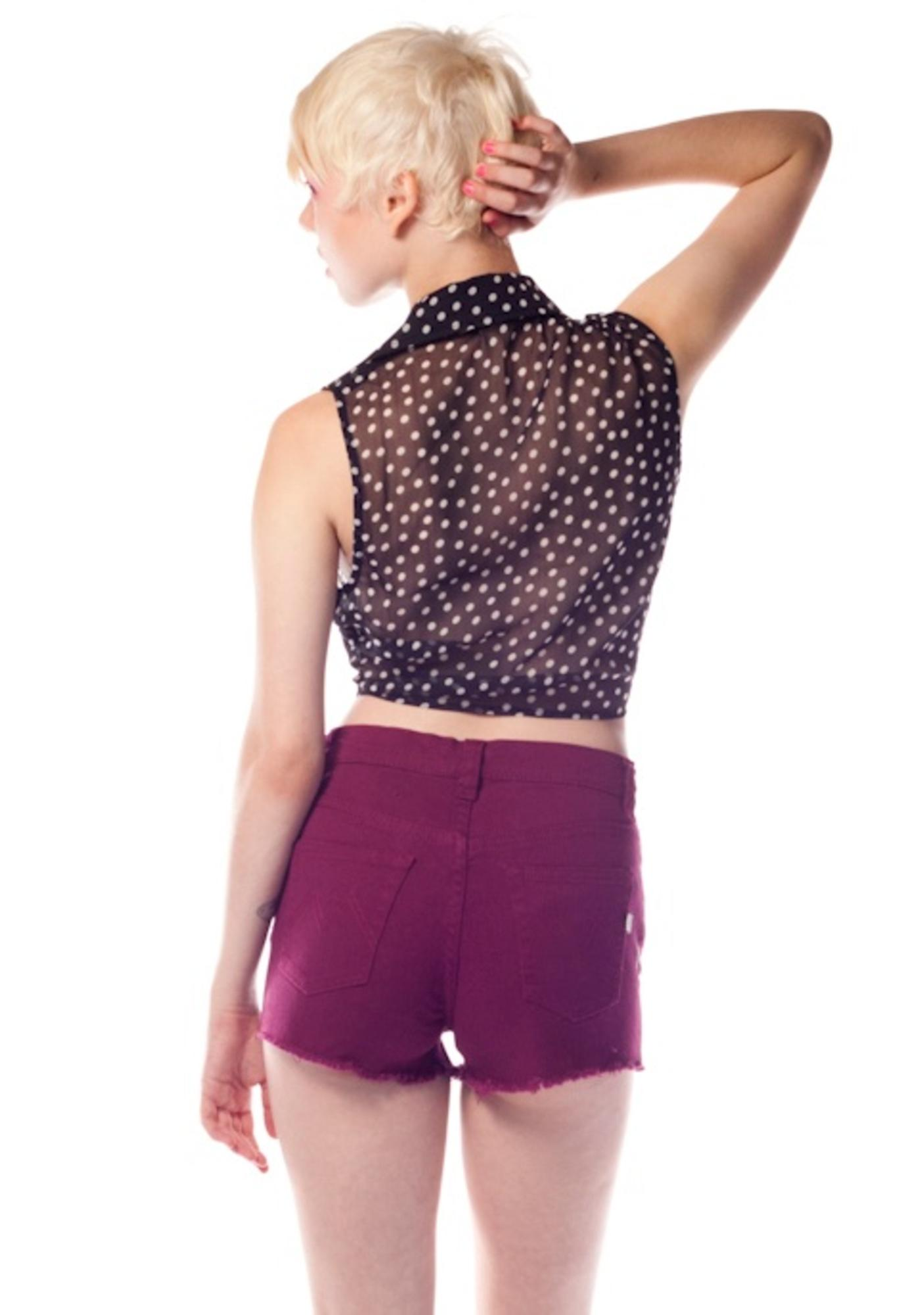 MinkPink Runaway Slashed Shorts