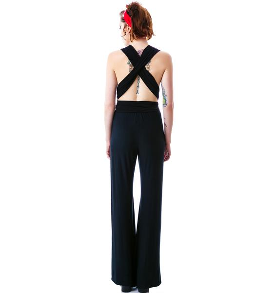 Castles Couture Deep V Jumpsuit