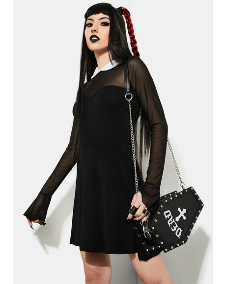 Touch Of Darkness Mesh Skater Dress
