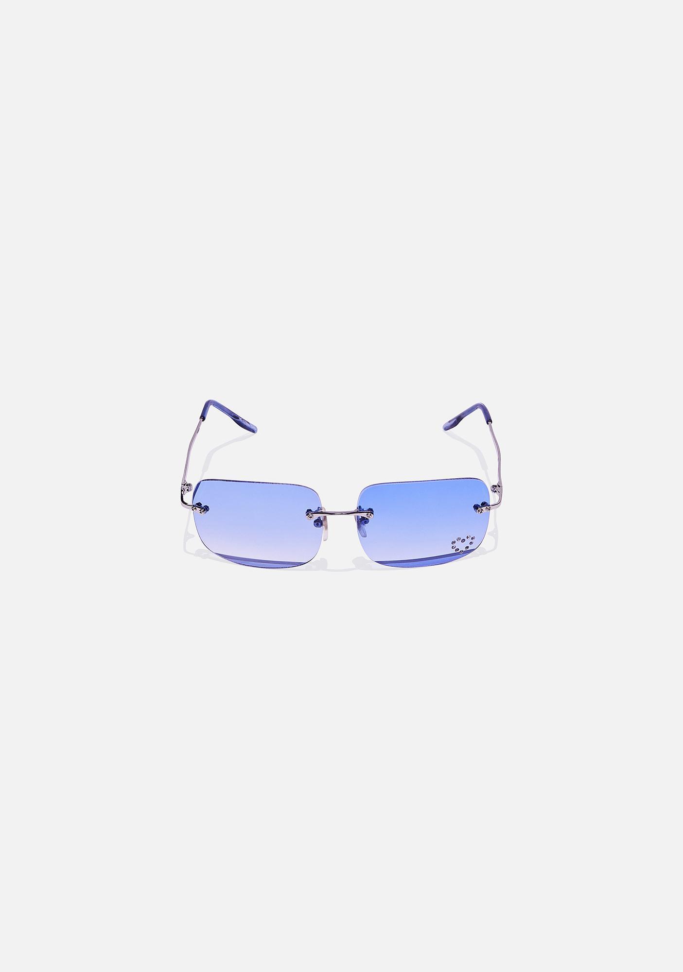 Good Times Eyewear Blue Sweetheart Clear Sunglasses