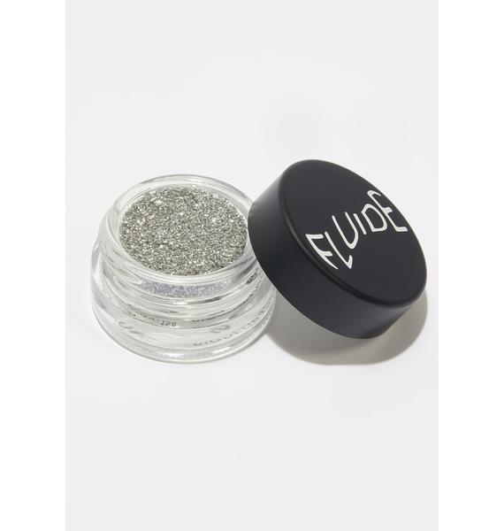 Fluide Silver Biodegradable Loose Glitter Pot