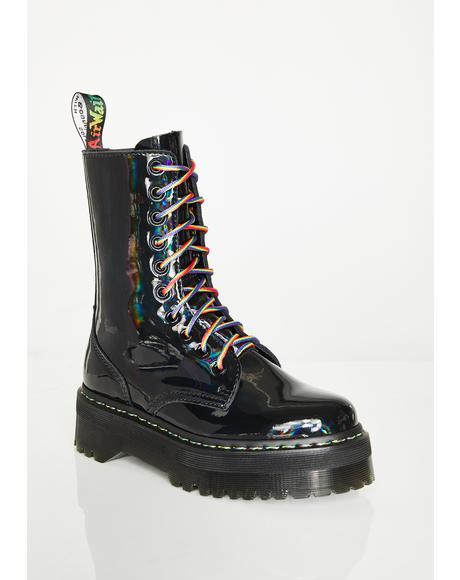 Jadon Hi Rainbow Boots