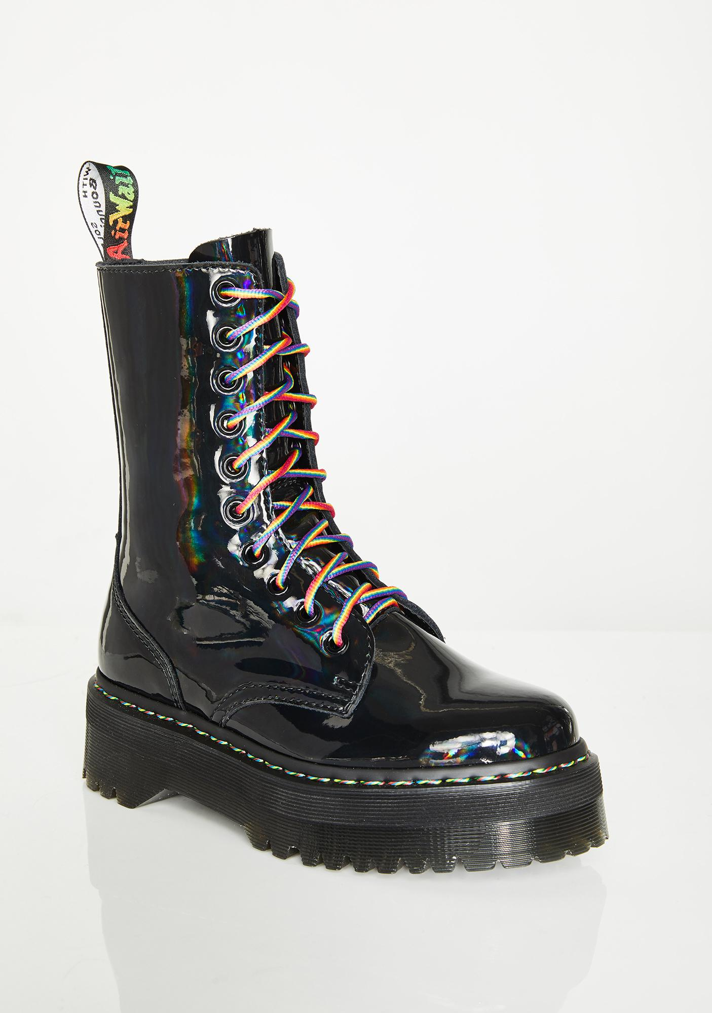 Dr. Martens Jadon Hi Rainbow Boots