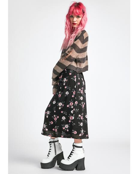 Erase And Rewind Midi Skirt