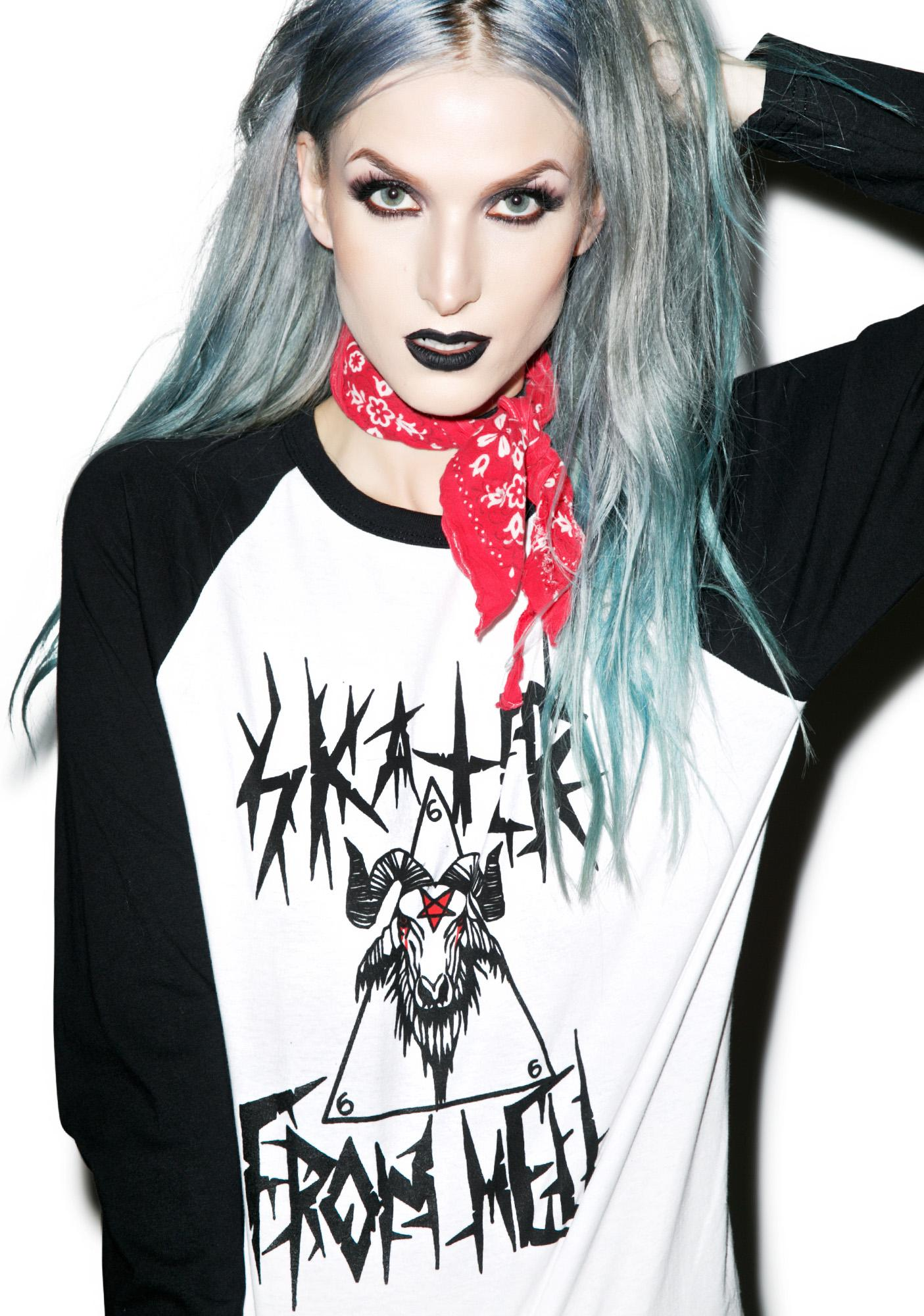 Skater From Hell Baseball Tee