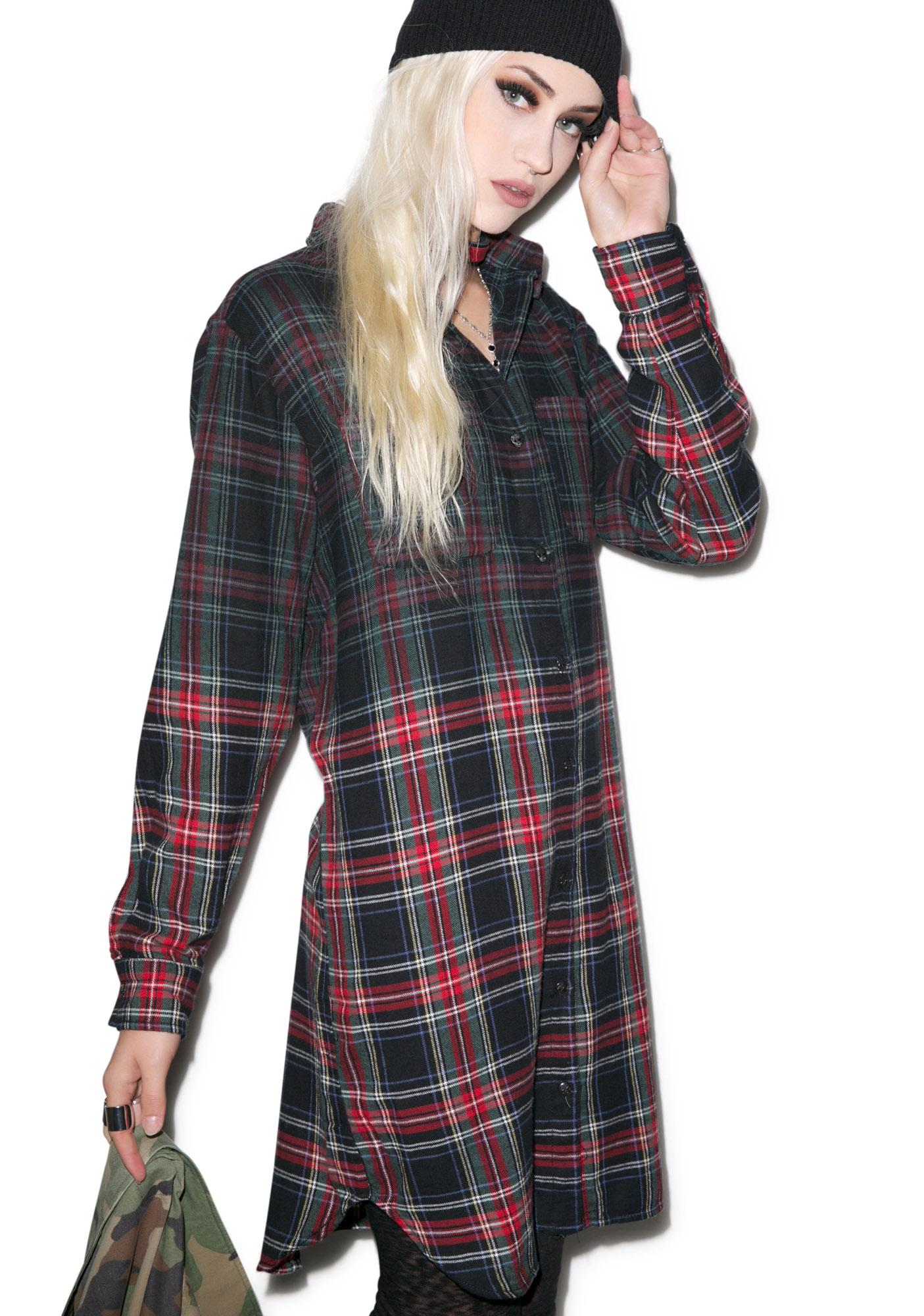 Tripp NYC Dip Dye Catalano Flannel Top