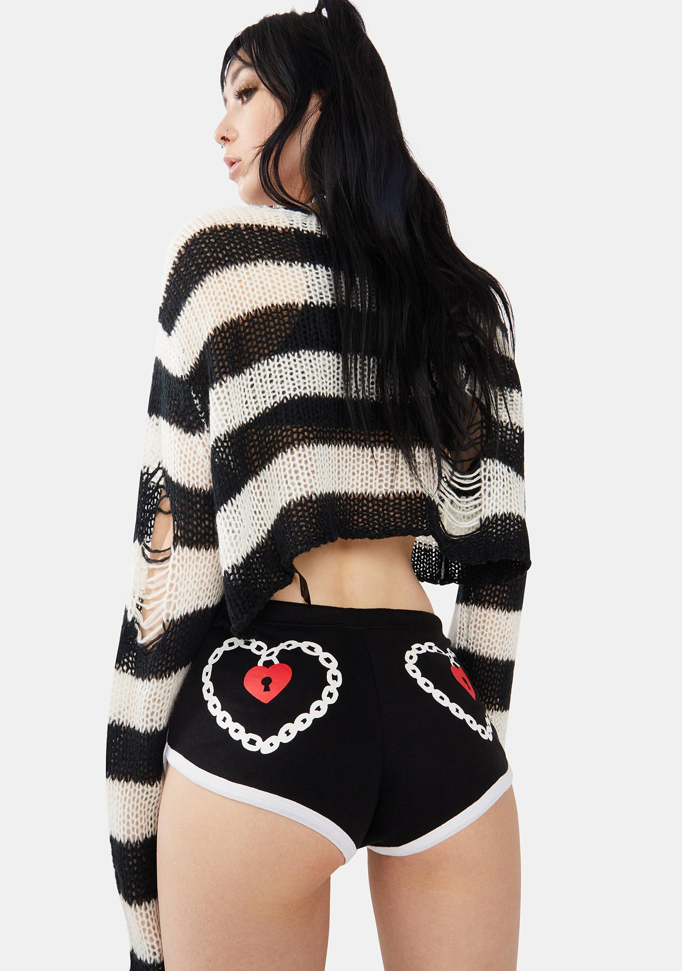 Too Fast Lock Me Up Booty Shorts