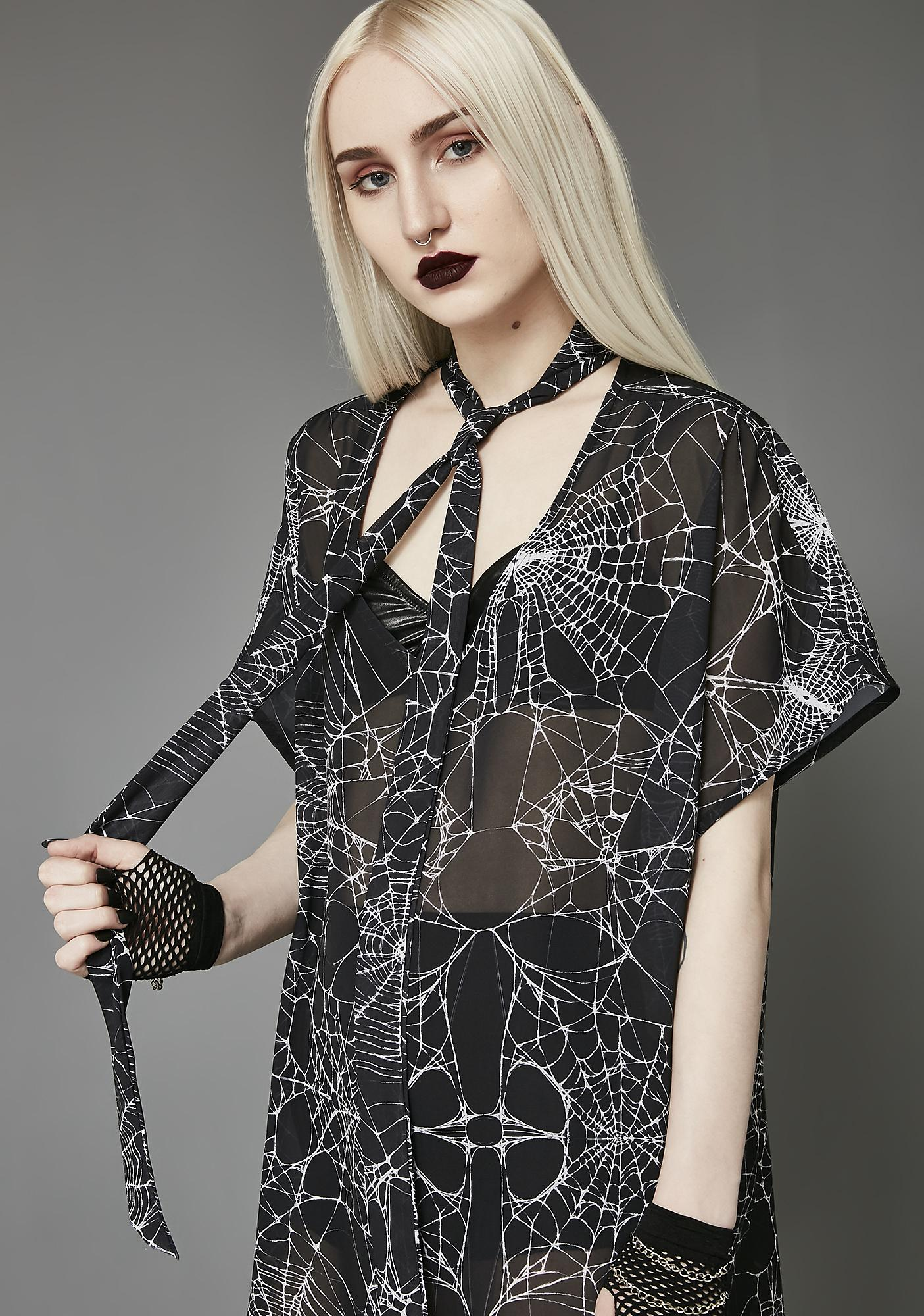 Widow Widow's Web Chiffon Tunic